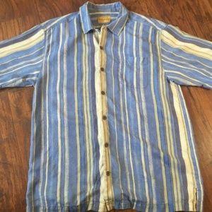Tommy Bahama MultiColor Stripe Short Sleeve SzM
